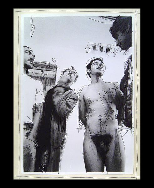 desnudo entre 4