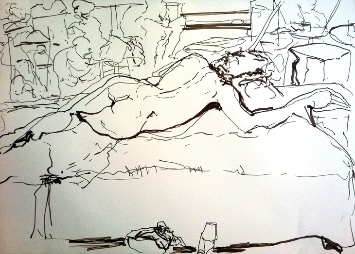 nude reclining
