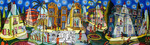starry night on tel aviv naive paintings by rahpael perez israel