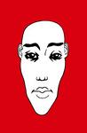 Portrait N&B #03 Fond Rouge