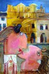 Lovers in Kazimierz, painting