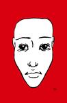 Portrait NB 02 rouge