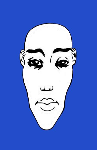 Portrait NB 03 fond bleu