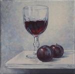Rødvin og blommer