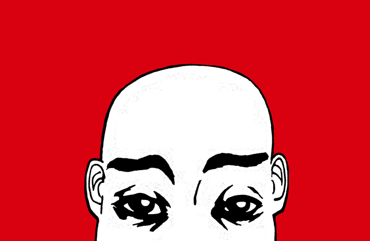Portrait NB 03 regard variation rouge