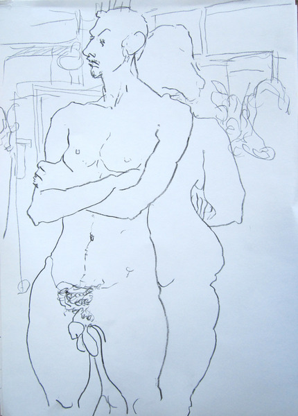 Couple #2, pencil on paper. 43x33. 9.10.2013