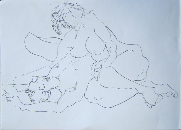Couple #1, pencil on paper. 43x33. 9.10.2013