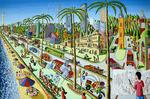 naive paintings primitive art painting rafi peretz perez raphael