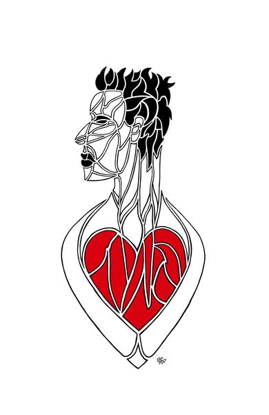Esprit Et Ame coeur rouge
