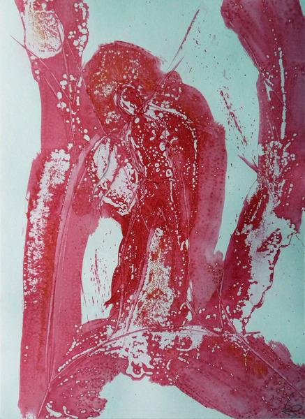 C22 acrylic on paper 29x41c