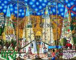 naive painting of jerusalem city art paintings by raphael perez