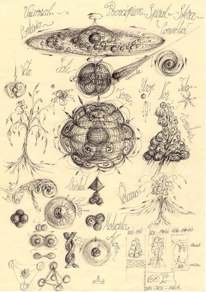 1 Universality of macro-meso-microcosmic sphere hierarchies.