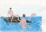 Summertime swim