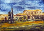 1992 Feudo Burgio oil on canvas 50 x 70 Private Colletion