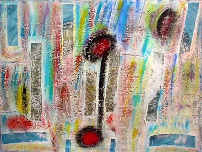 ADONAI ELOHIM TZEVAOT - 1999 Mista sobre tela 90x120