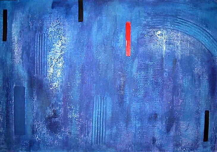 AZUL  e VERMELHO - 2005 - 0,90 x 130cms