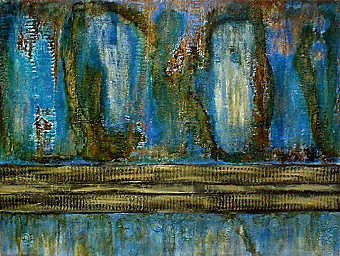 MUROS XXV- 2002 Mista sobre tela- 90x120
