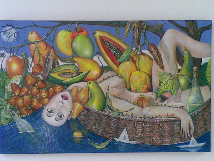 Girl Under the Fruits