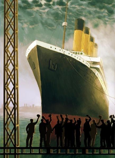 Waving off the Titanic