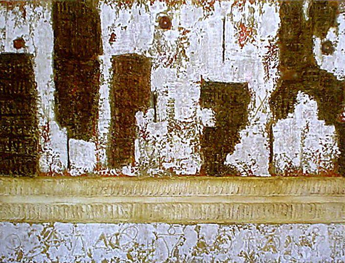 MUROS XVI -90 x 140cm - 2004- Madeira