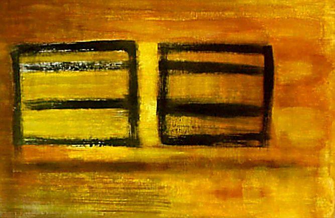 WINDOWS I -Acrílica sobre tela -100 x 154cm- 1995 HN