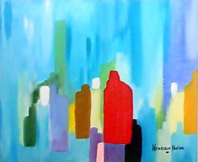 HN  037 cidades 1995 oleo  s tela  90 x 120cm