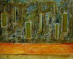 CIDADES  -0  -2003- Mista sobre tela 80 x 100