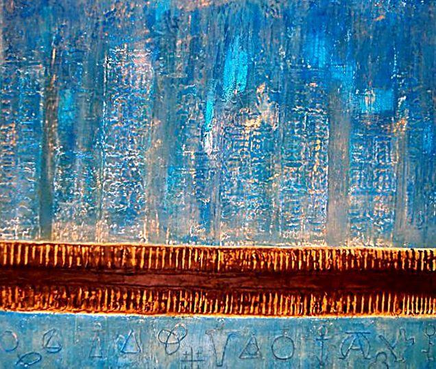 CIDADE  HN 086-mista sobre madeira 1999- 110 x 140cm