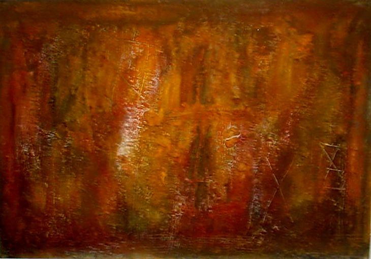 HN Tributo a Antoni Tàpies - 90 x 145cm  - 1998