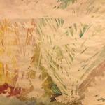 Étude aquarelle (Les choux en hiver)