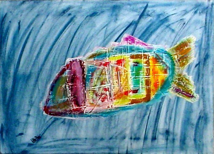 Jonas e o peixe - 50 x 70cm-1998