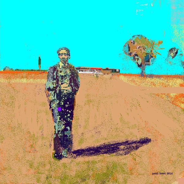 l'homme dans les champs
