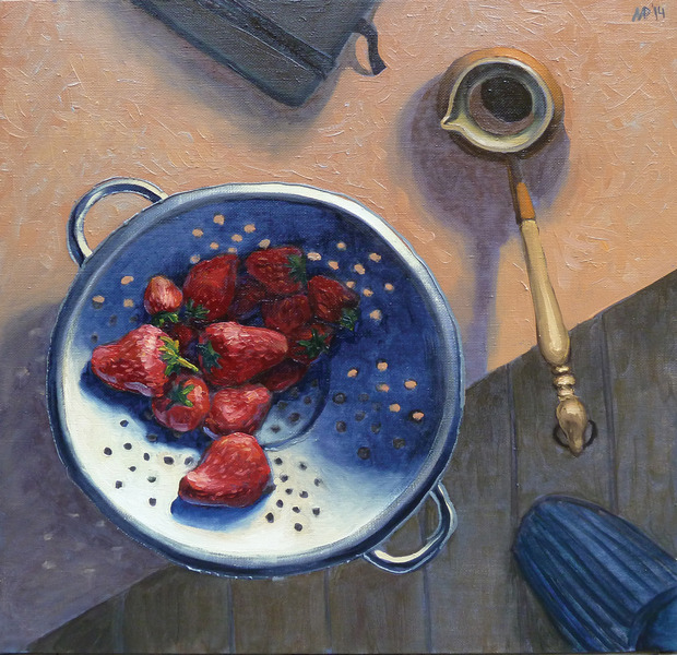 Morning strawberries.