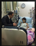 Education Minister visiting children injured by Hamas rockets