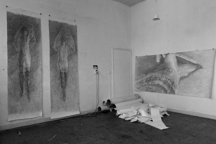 work in progress in studio