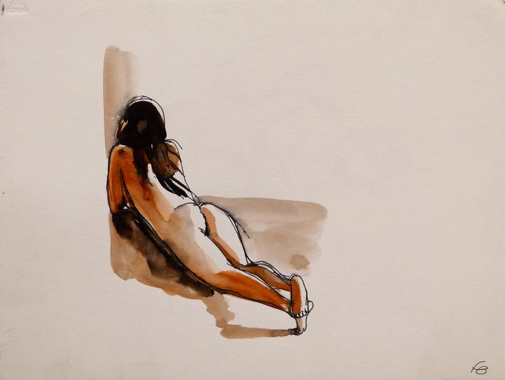 reclining nude 32x24