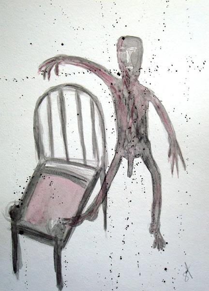 UN HOMBRE QUE SALTA AL VACÍO (a man is jumping into the void)