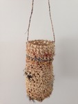 Dilly bag with emu feathers