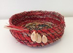 Basket with pumpkin seed decoration