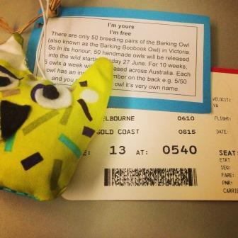 Travelling Owl Project off to The Gold Coast
