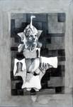 labud 55x43cm2011 cretez grafit