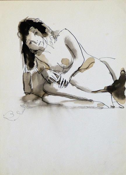 reclining nude 21x29