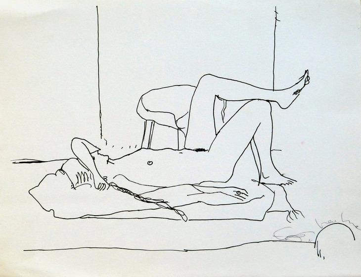 reclining nude 25x33