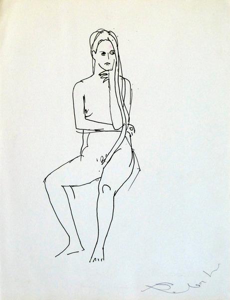 sitting woman 25x33