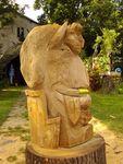 Diabolo II, wooden sculpture