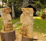 DEVILS, wooden sculpture