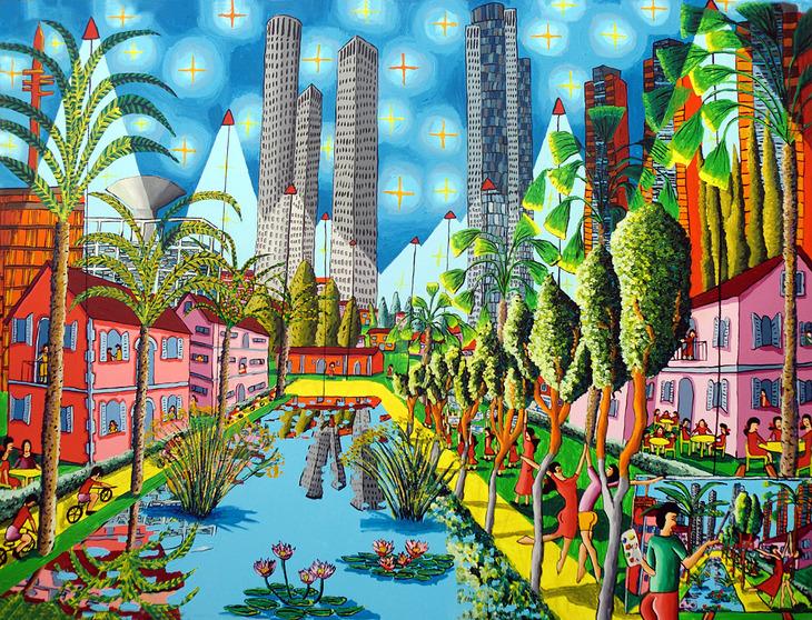naive paintings of tel aviv raphael perez artist painter