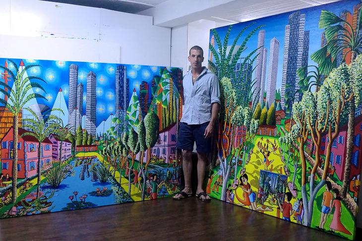naive paintings art by raphael perez assaf henigsberg model art