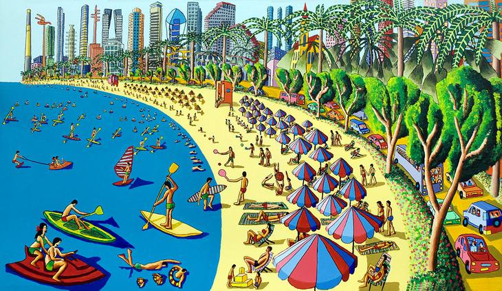 naive paintings art by raphael perez tel aviv painting