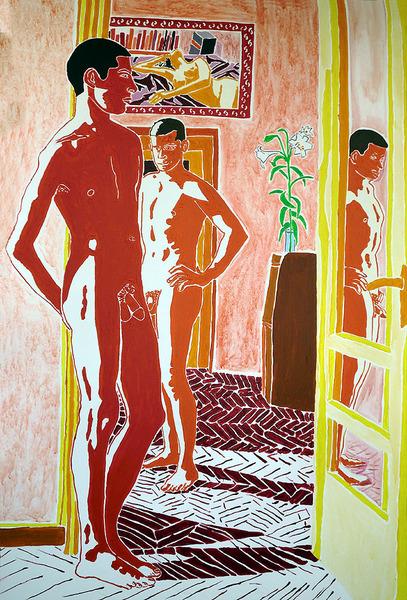 gay couple naked men paintings male nude art homoerotic painting